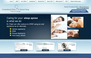 Website content creation for Craniofacial Pain & Dental Sleep Center of Georgia - http://www.atlantatmjfacepain.com/